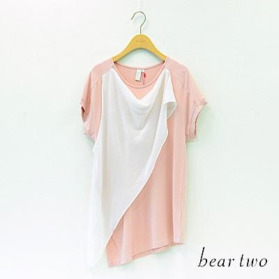 beartwo 裝飾雪紡長上衣(二色)