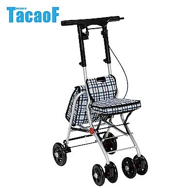 日本TacaoF幸和 輕巧助步車-條紋黑