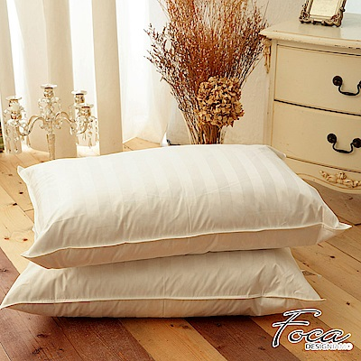 FOCA 飯店專用-經典緹花100%水鳥羽毛枕(超值買一送一)-台灣製