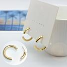 【ANPAN愛扮】韓東大門超設計感幾何圓圈前後扣925銀耳針式耳環