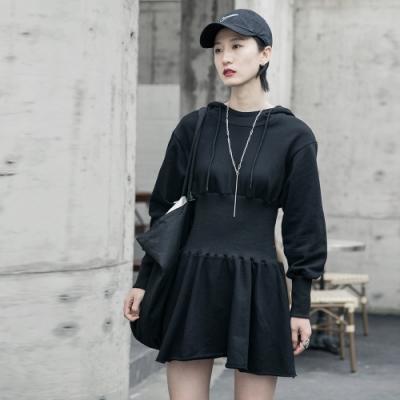 設計所在Style-歐美風收腰顯瘦休閒套頭洋裝