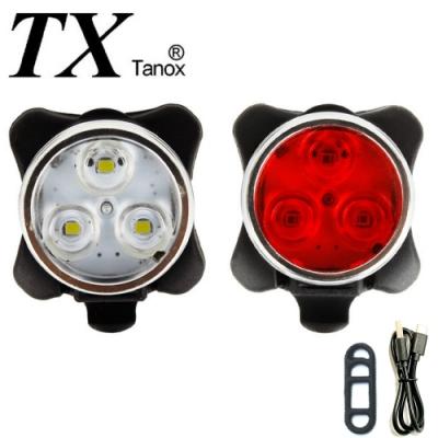 TX特林USB充電自行車前燈加尾燈組(T-miniby-2)