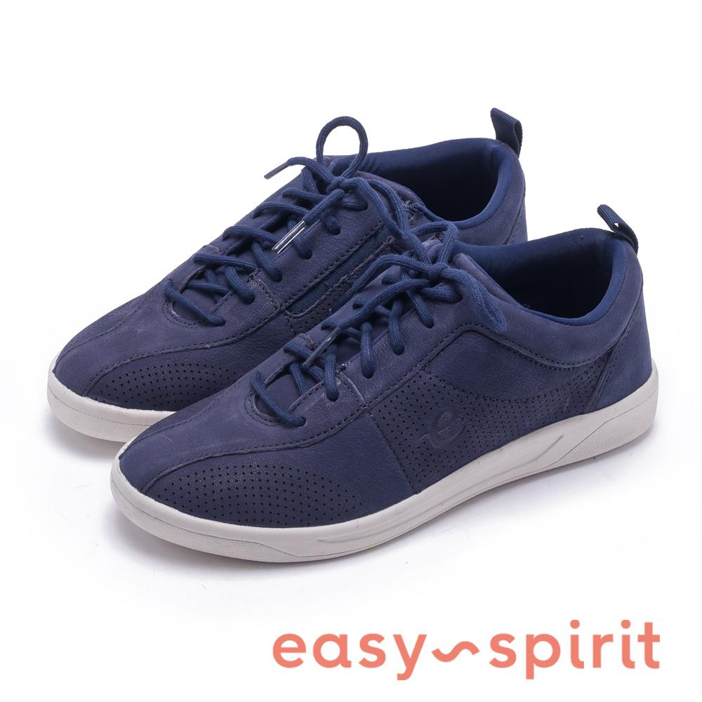 Easy Spirit FRENEY8 輕時尚絨面綁帶休閒鞋-藍色