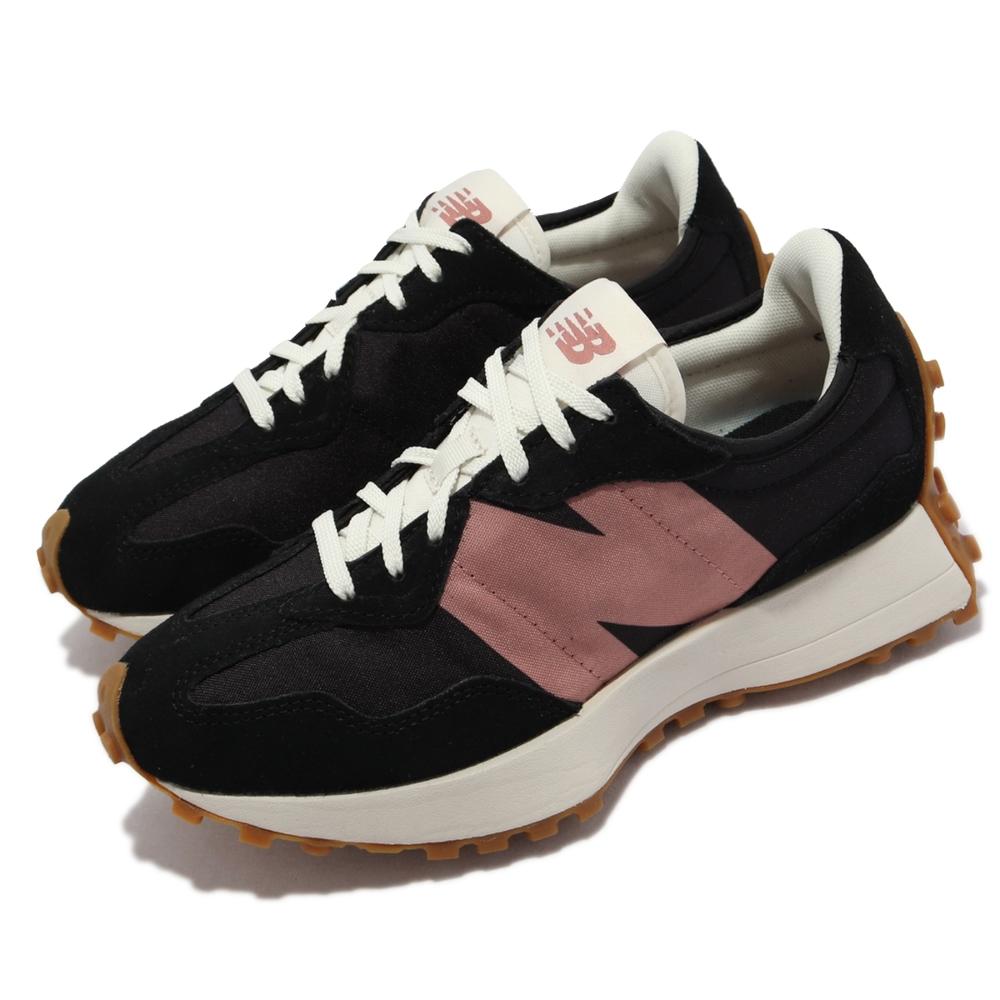 New Balance 休閒鞋 327 復古 N字鞋 女鞋 紐巴倫 穿搭推薦 經典跑鞋 麂皮 黑 粉 WS327HR1-B