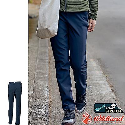 Wildland 荒野 0A62317-72深藍色 女SOFTSHELL窄筒長褲