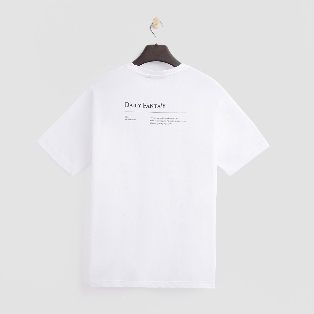 Hang Ten - 女裝 - 經典簡約小logo棉T-白