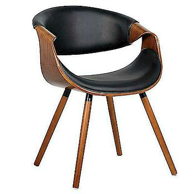 AS-Hazel胡桃黑皮餐椅-54x56x75cm