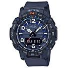 PROTREK 運動冒險家風格數字設計藍芽錶(PRT-B50-2)藍/57.5mm