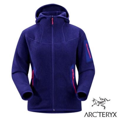 始祖鳥 Polartec女Covert Hoody 羽量級連帽保暖刷毛外套_藍烴紫-