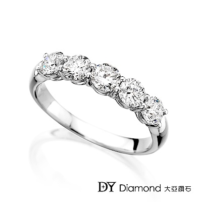 DY Diamond 大亞鑽石 18K金時尚 奢華鑽石線戒