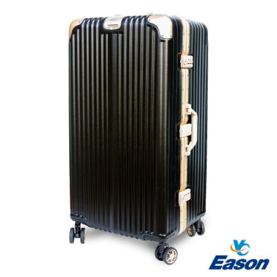 YC Eason 30吋運動鋁框避震行李箱胖胖箱 黑金