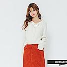 H:CONNECT 韓國品牌 女裝-前綁結針織上衣-白