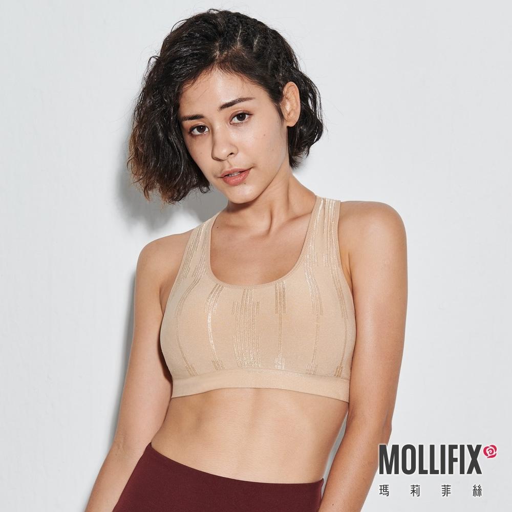 Mollifix 瑪莉菲絲 A++ 微光挖背浮托Bra (裸金)