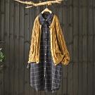 立體麻花紋鏤空針織衫外套薄版開衫寬鬆毛衣-設計所在