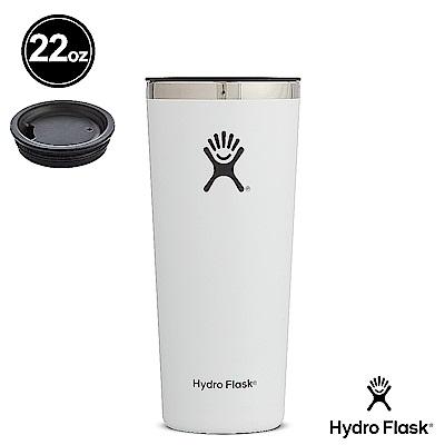 美國Hydro Flask 保溫隨行杯 22oz/650ml 經典白