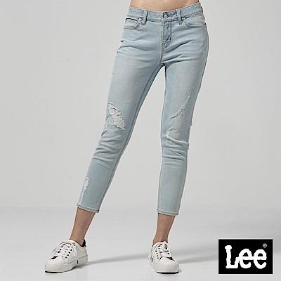 Lee 低腰合身窄管牛仔褲-淺藍