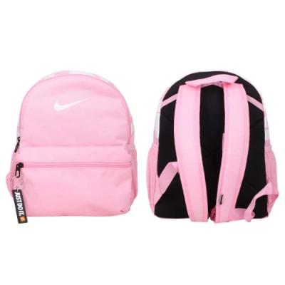 NIKE JUST DO IT 小型後背包-肩背包 雙肩包 BRASILIA 兒童 BA5559-655 粉紅白