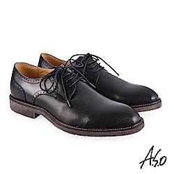 A.S.O 健步通勤 休閒輕盈紳士鞋 黑