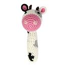 美國【CHEENGOO】 有機竹紗動物安撫搖鈴(乳牛、長頸鹿、無尾熊、綿羊、兔子)