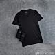 GIORDANO 男裝素色純棉V領短袖T恤(三件裝) - 29 標誌黑 product thumbnail 1