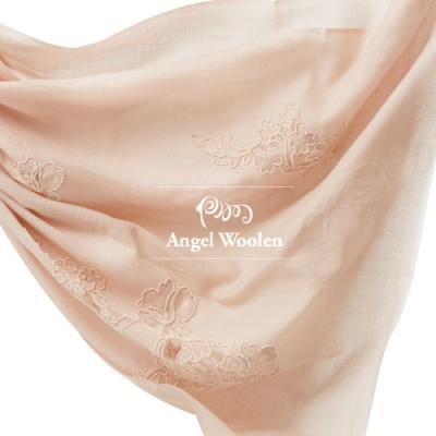 【ANGEL WOOLEN】花蕊寄情印度手工精緻羊絨披肩(共兩色)