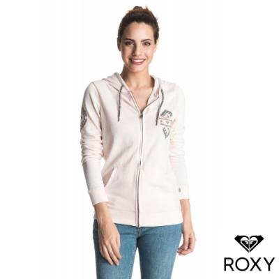 【ROXY】TROPICAL BAZAAR CROSS WAVES 連帽外套 淺粉紅