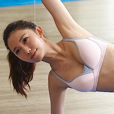 蕾黛絲-動氧Bra 低脊心無鋼圈B-D罩杯運動內衣(輕舞粉)