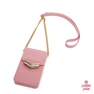 Petite Jolie-盾牌LOGO果凍手機包-粉紅