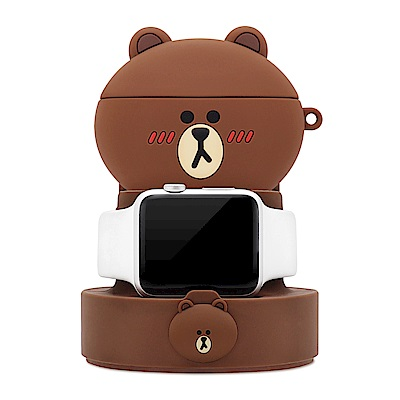 GARMMA LINE FRIENDS Apple Watch 二合一充電支架 熊大