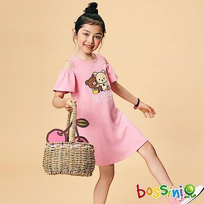 bossini女童-拉拉熊系列印花洋裝02嫩粉