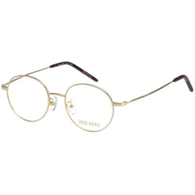VEDI VERO 復古圓框 β鈦 光學眼鏡 (金色)