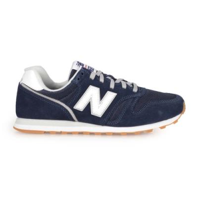 NEWBALANCE 男復古慢跑鞋-麂皮 373系列 NB N字鞋 標準楦 ML373DB2 丈青白銀