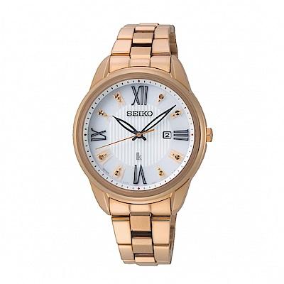 SEIKO LUKIA優雅時分廣告款太陽能腕錶/SUT364J1/V137-0DC0K