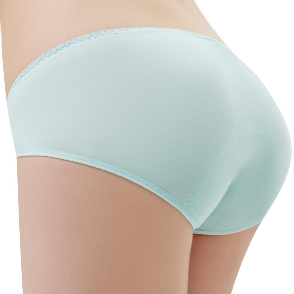 思薇爾 森林小兔輕甜風系列M-XXL日用低腰生理褲(元氣藍)