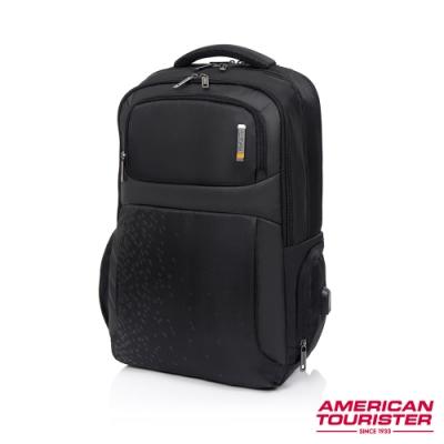 AT美國旅行者 Segno可拆卸收納袋筆電後背包17吋(黑)