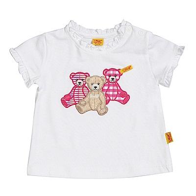 STEIFF德國精品童裝 短袖T恤上衣 拼布熊熊