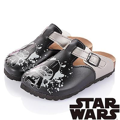 (雙11)StarWars 星際大戰-黑武士 腳床型拖鞋童鞋-黑