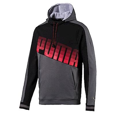 PUMA-男性訓練系列Collective長厚連帽T-石城灰-歐規