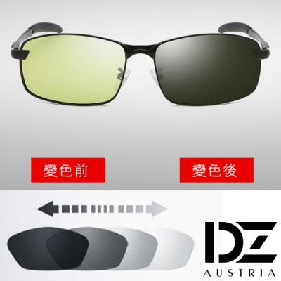 【滿千69折】DZ 型潮格調日夜兩用防藍光變色片 偏光太陽眼鏡墨鏡(黑框)