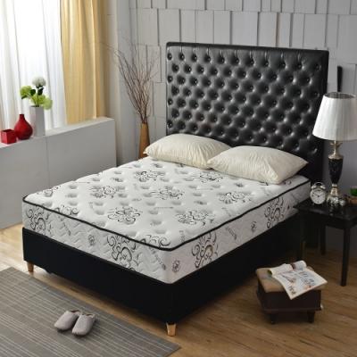 雙人5尺-飯店級奢華黑-天絲涼感抗菌-護腰型-硬式獨立筒床墊-Ally