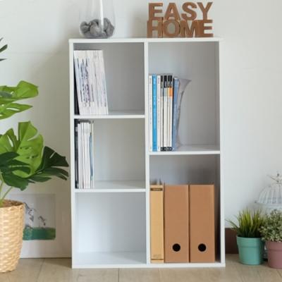 EASY HOME-五格加厚直橫兩用收納櫃-DIY-W60*D29.5*H89.8CM-白色