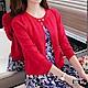 Jilli-ko 純色小披肩空調針織外套-紫/粉/紅/白