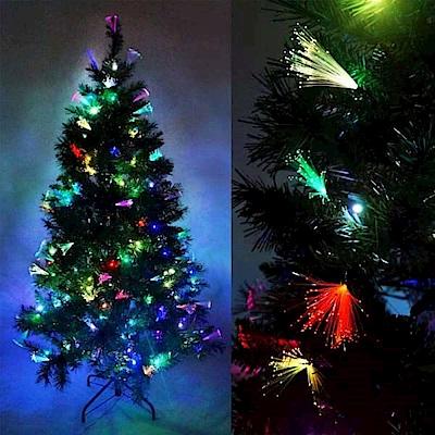 摩達客 夢幻多變6尺(180cm)彩光LED光纖聖誕樹