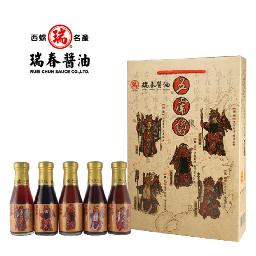 瑞春 五虎醬禮盒(5瓶/盒,共六盒30瓶)