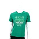 KENZO Tiger 虎頭印花綠色棉質T恤(男款)