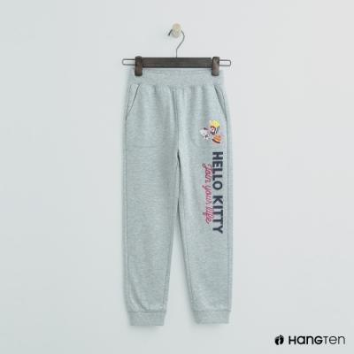Hang Ten -童裝 - Sanrio-束口側邊logo運動長褲 - 灰