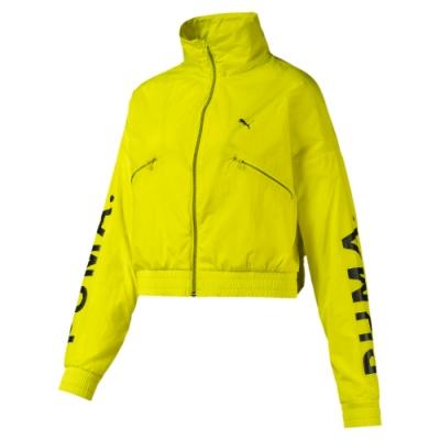PUMA-女性流行系列Chase風衣外套-警示黃-歐規