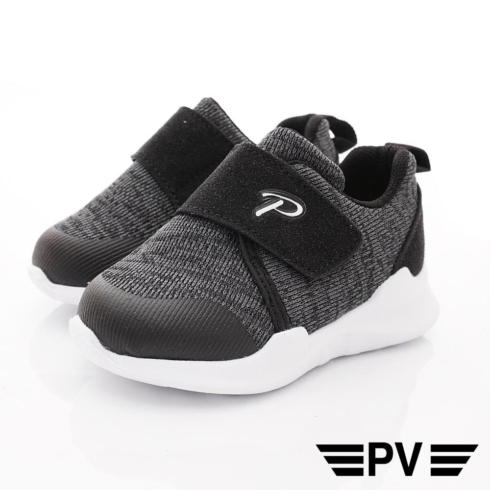 PV日系私藏 輕量針織休閒鞋款 8909黑(中小童段)