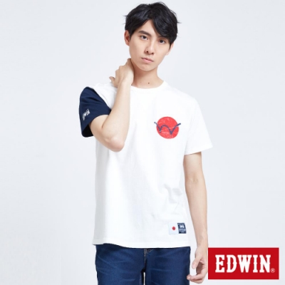 EDWIN 復古日風LOGO 短袖T恤-男-米白