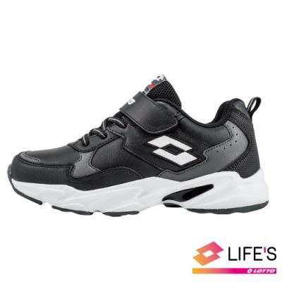 LOTTO 義大利 童 經典復古運動鞋 (黑)
